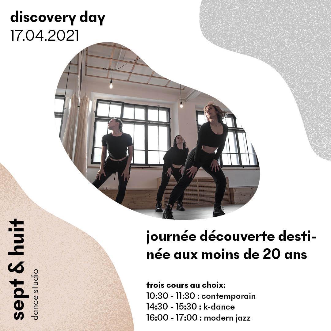 Inscription pour la journée découverte chez Sept et Huit Dance Studio